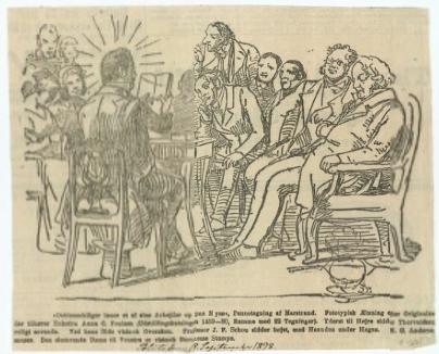 Kultureliten samlet til oplæsning på Nysø Gods.